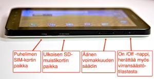 Kaikki mekaaniset painikkeet löytyvät Samsungin toiselta kyljeltä.